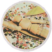Surfing Table Cape Round Beach Towel