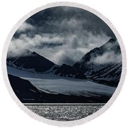 Svalbard Mountains Round Beach Towel