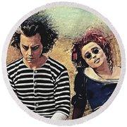 Sweeney Todd And Mrs. Lovett Round Beach Towel