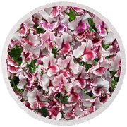 Sweet Pea Lisa Marie Flowers Round Beach Towel