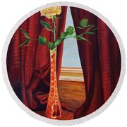 Sweetheart Day's Rose Round Beach Towel