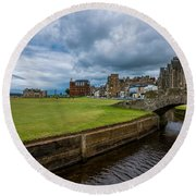 Swilcan Burn - The Old Course  Round Beach Towel