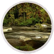 Swirling River Round Beach Towel