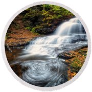 Round Beach Towel featuring the photograph Swirls by Russell Pugh