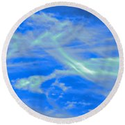 Round Beach Towel featuring the photograph Sylph Party by Judy Kennedy