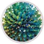 Synchronicity Of Color Round Beach Towel