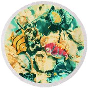 Synthetic Seas Round Beach Towel