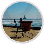 Table For One Round Beach Towel