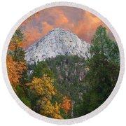 Tahquitz Peak - Lily Rock Painted Version Round Beach Towel