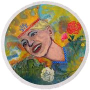 Taking Back Your Crown Round Beach Towel