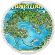 Tampa Bsy 2019 Round Beach Towel