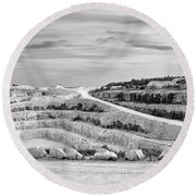 Tatlock Quarry Round Beach Towel