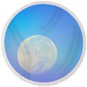 Taurus Almost Full Moon Blend Round Beach Towel