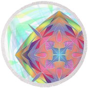 Round Beach Towel featuring the digital art Techno Fantasy by Vitaly Mishurovsky