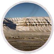 Tempelfjord Svalbard Round Beach Towel
