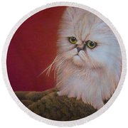 Tempest In A Teacup Round Beach Towel