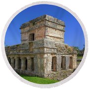 Temple Of The Frescoes Round Beach Towel