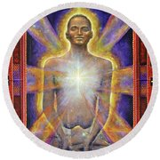 Temple Of The Soul Round Beach Towel