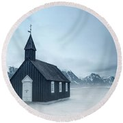 Temple Of The Winds Round Beach Towel