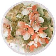 Tender Blossom Of Apple Tree Round Beach Towel