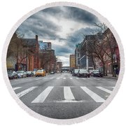 Tenth Avenue Freeze Out Round Beach Towel