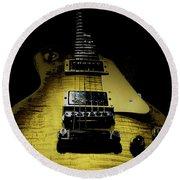 Honest Play Wear Tour Worn Relic Guitar Round Beach Towel
