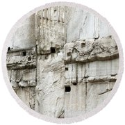 Textural Antiquities Rome Round Beach Towel