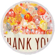 Thank You #2 Round Beach Towel