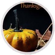 Thanksgiving Dinner Invitation Card. Round Beach Towel