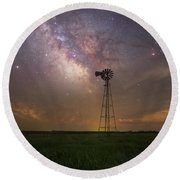 Round Beach Towel featuring the photograph That's My Kind Of Night  by Aaron J Groen