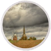 Thaxted - An English Countryside View Round Beach Towel