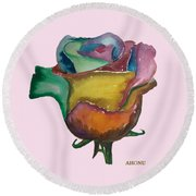 The 1111 Global Rose Round Beach Towel