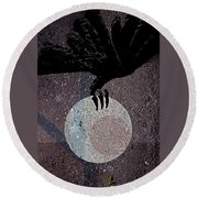 Round Beach Towel featuring the digital art The Abduction Of The Moon by Attila Meszlenyi