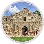 The Alamo, San Antonio Texas Round Beach Towel