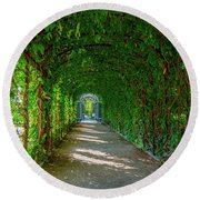 The Alley Of The Ivy Round Beach Towel
