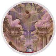 The Angels Palace Round Beach Towel
