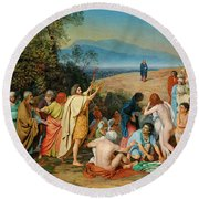 The Appearance Of Christ Before The People Round Beach Towel