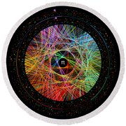 The Art Of Pi  Round Beach Towel