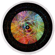 The Art Of The Golden Ratio Phi Round Beach Towel
