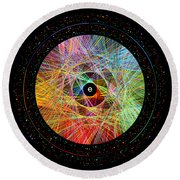 The Art Of The Natural Logarithm E Round Beach Towel