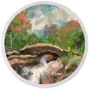 The Ashness Bridge In Spring Round Beach Towel