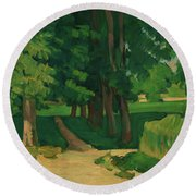 The Avenue At The Jas De Bouffan - Digital Remastered Edition Round Beach Towel