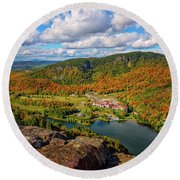 The Balsams Resort Autumn. Round Beach Towel