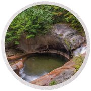 Round Beach Towel featuring the photograph The Basin From Above by Sharon Seaward