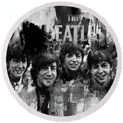 The Beatles Bk Round Beach Towel