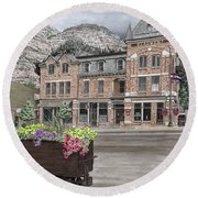 The Beaumont Hotel Round Beach Towel