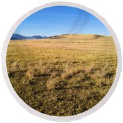 The Beautiful Valley Round Beach Towel
