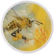 The Bees Knees Round Beach Towel