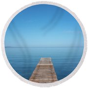 The Big Deep Blue Round Beach Towel