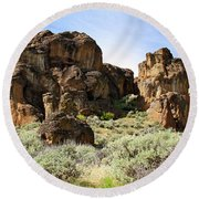 Arches Hoodoos And Castles The Big Picture Little City Of Rocks Round Beach Towel